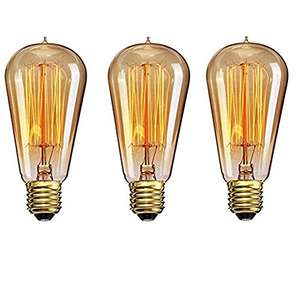 Amazon: Estilo Retro (3 Edison bulbs)
