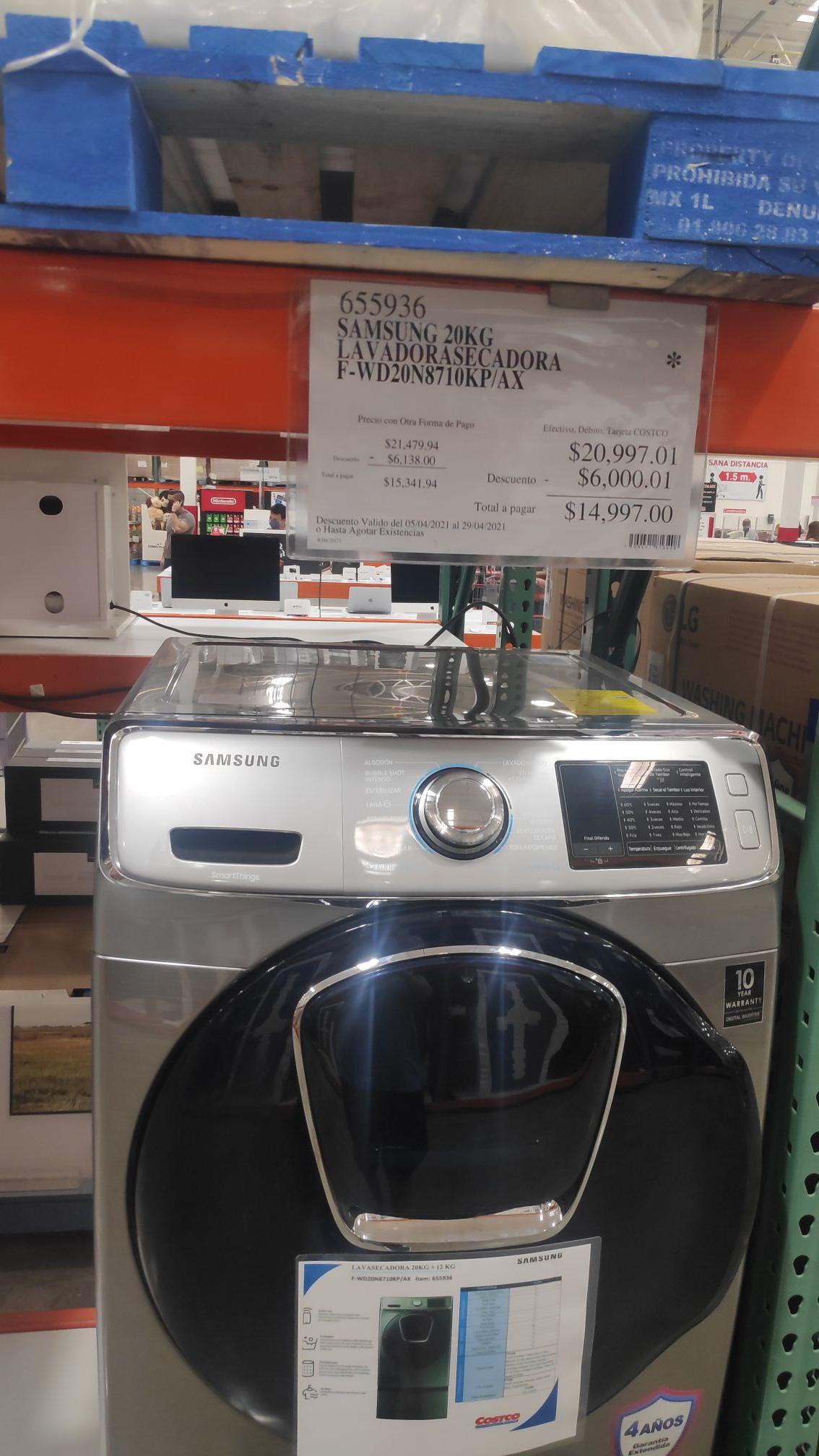 Costco - Lavasecadora Samsung 20 kg