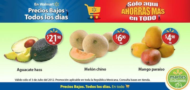 Martes de frescura en Walmart jullio 3: mango paraíso $4.90, pierna con muslo $19.90 y más