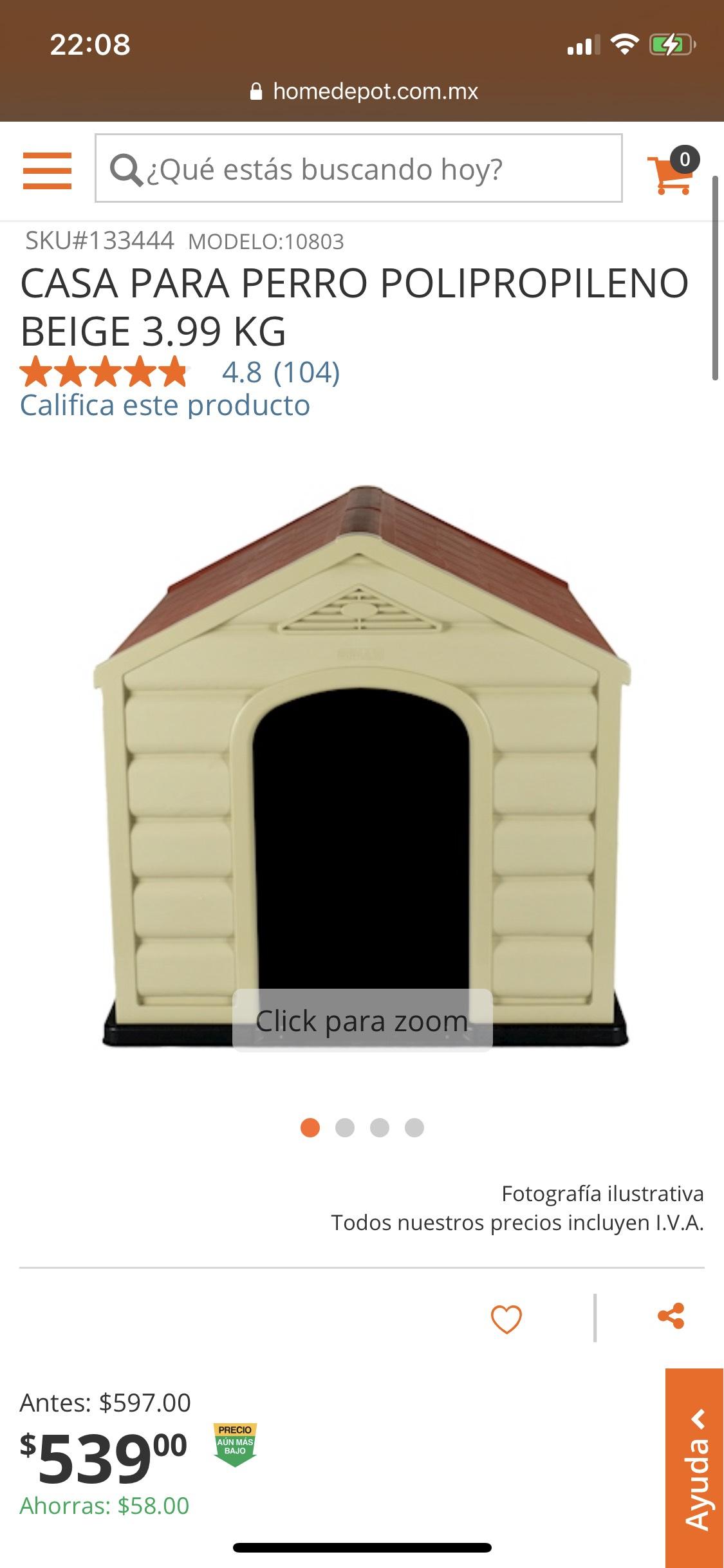 Home Depot: Casa para perro Rimax