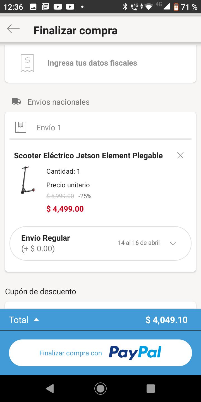 Linio: SCOOTER ELÉCTRICO PARA ADULTO