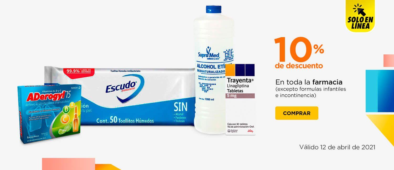 Chedraui: 10% de descuento en toda la farmacia (solo tienda en línea)