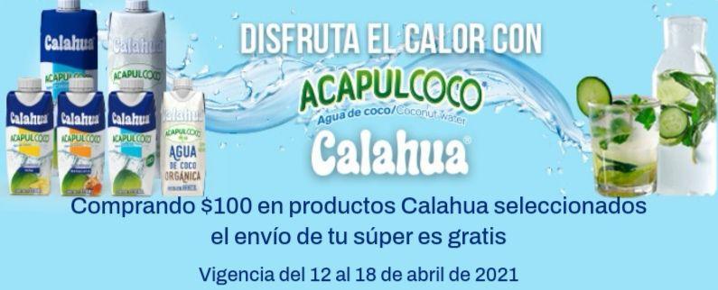 Chedraui: Envío gratis en super en la compra de $100 en productos Calahua seleccionados