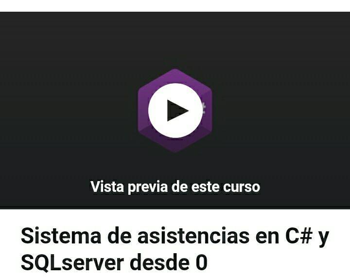 Udemy: Sistema de asistencias en C# y SQL server desde 0