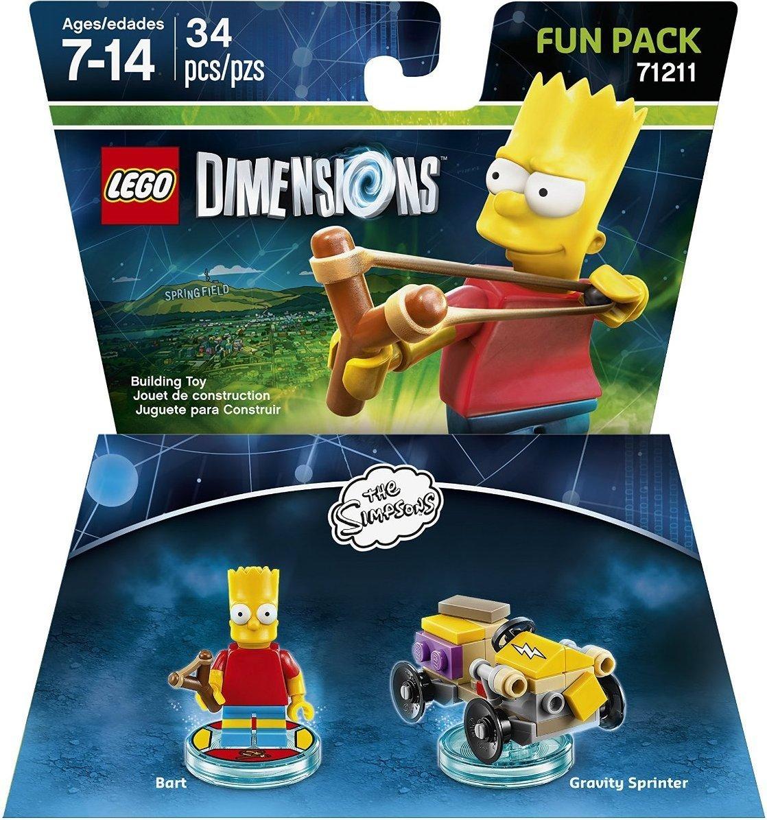 Amazon: Simpsons Bart Fun Pack - LEGO Dimensions. Tambien bajo Homero a $49