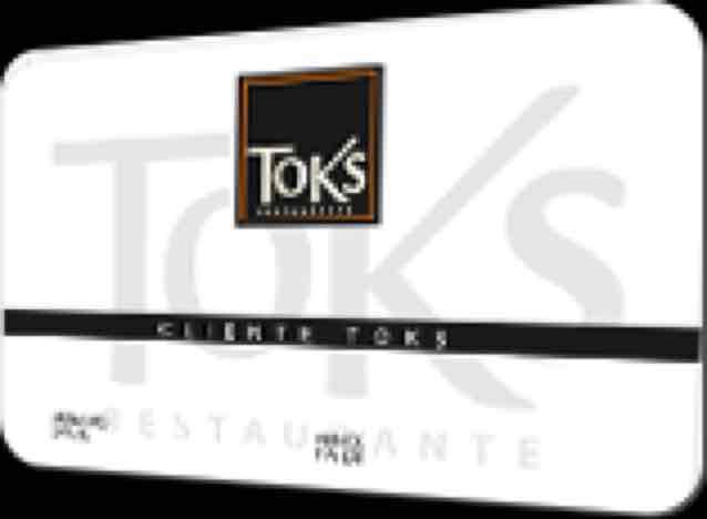 Toks: Tarjeta de Cliente Frecuente gratis para descuentos en cualquier sucursal