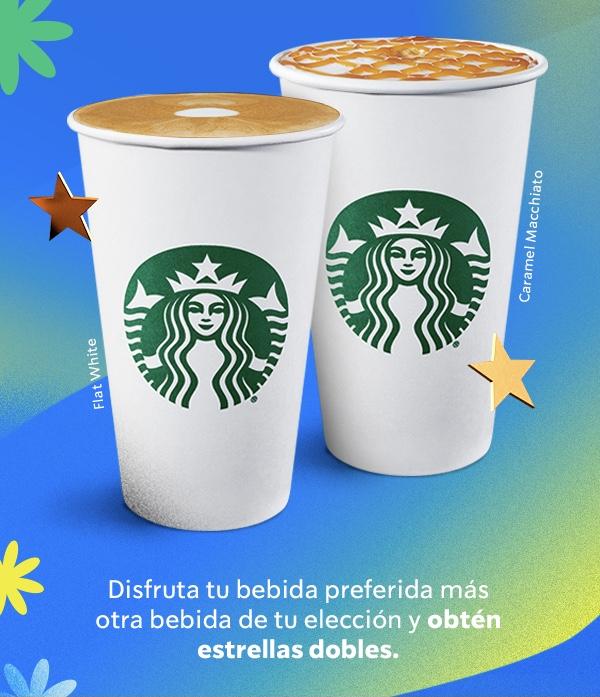 Starbucks: Obtén estrellas dobles al ordenar dos bebidas preparadas en barra