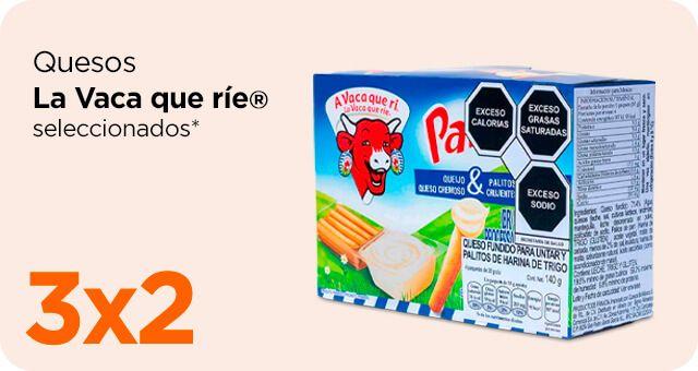 Chedraui: 3 x 2 en quesos La Vaca que Ríe seleccionados