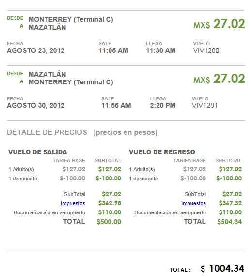 Vivaaerobus: destinos seleccionados a $500 vuelo sencillo