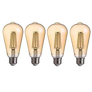 Amazon: 4 bombillas led 6w estilo vintage