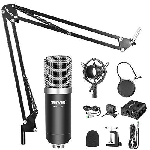 Amazon: Microfono condensador Neewer NW-700 con suspensión, Phantom y Mounting Clampv