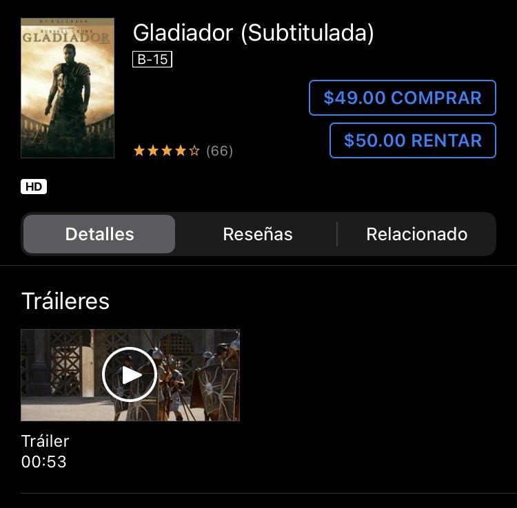 Gladiador iTunes