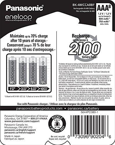 Amazon México: 8 Pack Baterias AAA Eneloop Recargables