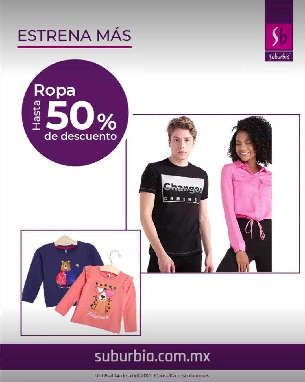 Suburbia: Hasta 50% de descuento en ropa, zapatería y accesorios