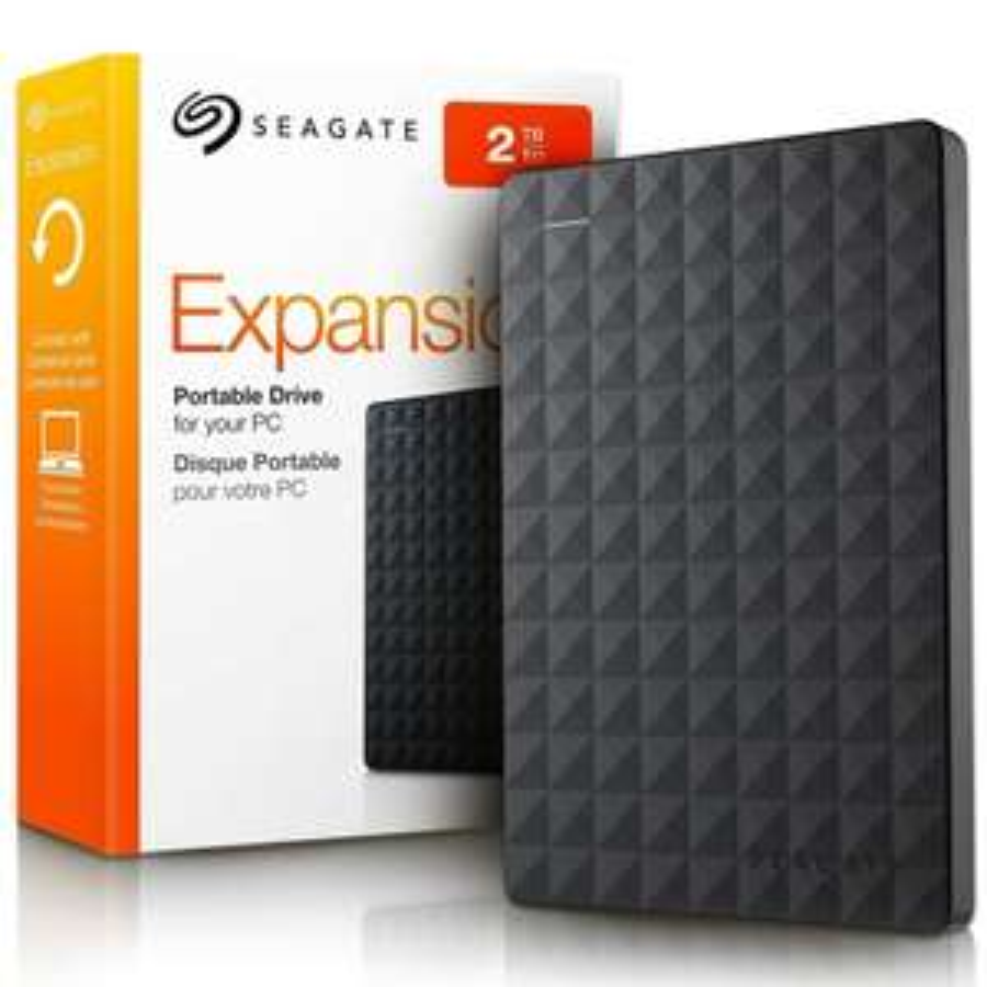 Amazon: Seagate Expansion Disco Duro Portátil USB 3.0 de 2TB