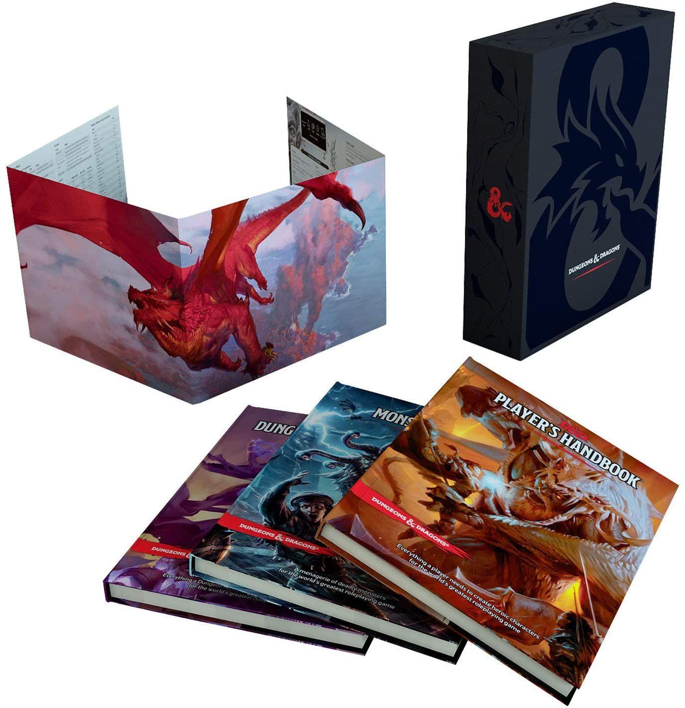 Amazon: Dungeons & Dragons set de 3 Libros 5e para campañas + pantalla edición especial para DM de regalo