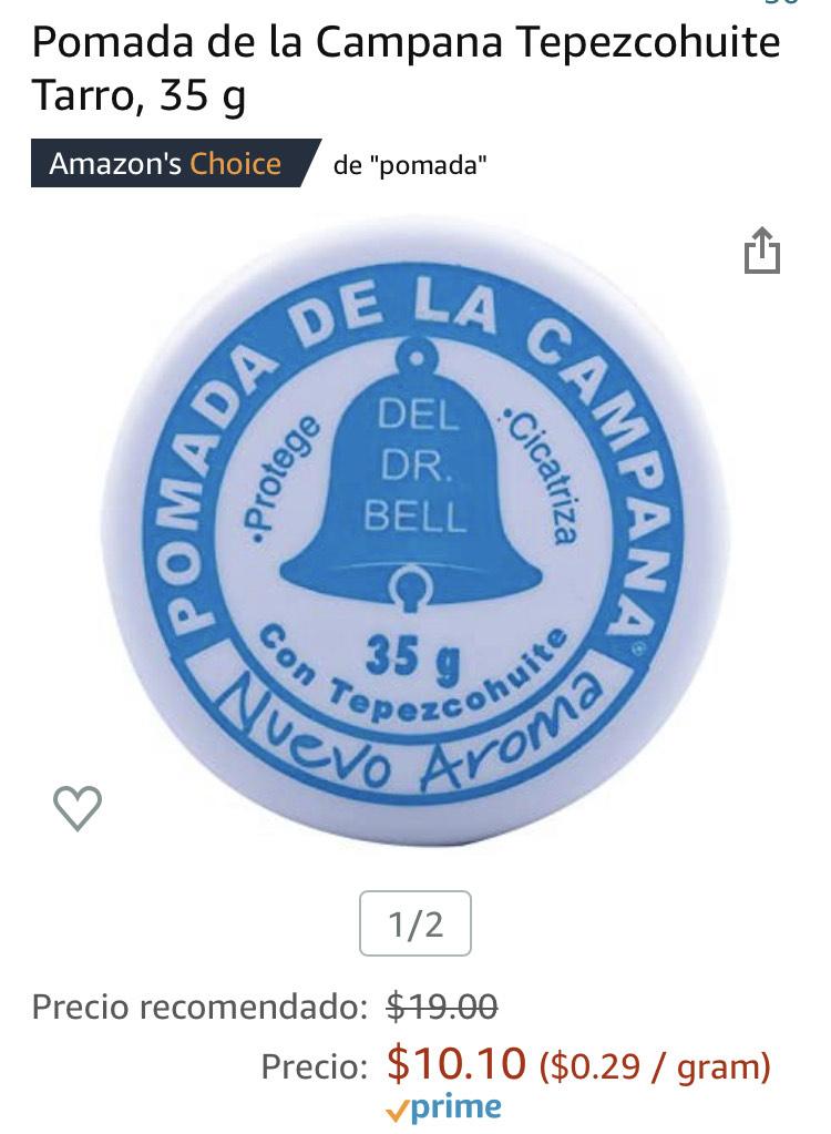 Amazon: pomada de la campana tarro 35gr