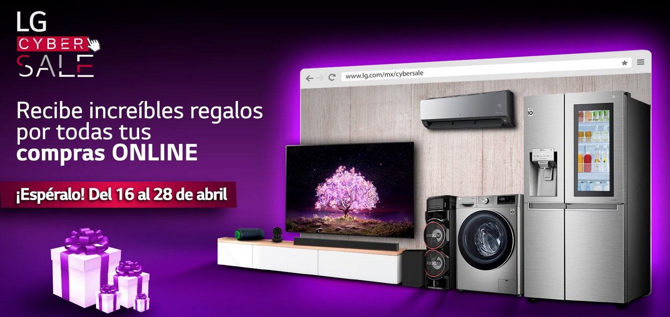 LG Cybersale: Recibe un regalo al comprar un producto lg
