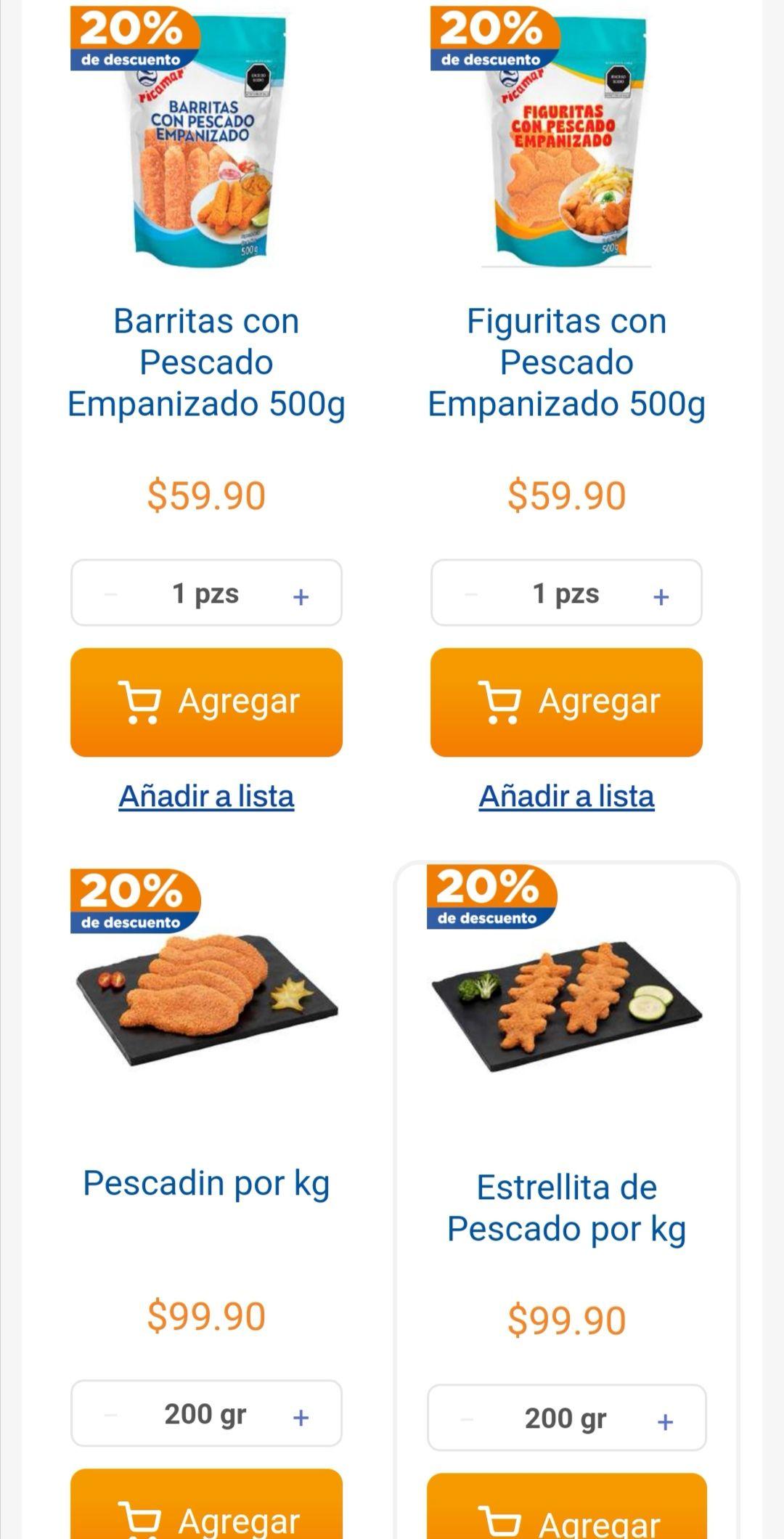 Chedraui: 20% de descuento en empanizados a granel y en Ricamar bolsa 500 g.