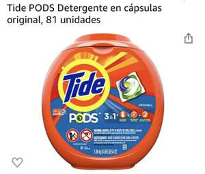Amazon, Tide pods original 81 unidades