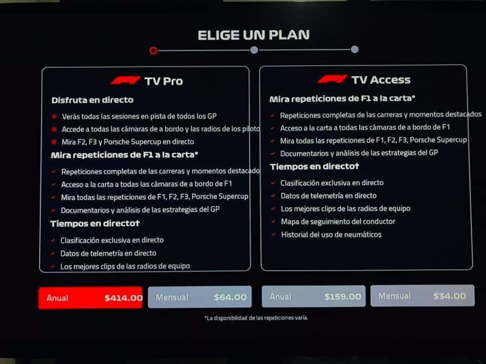 Roku: F1 TV PRO $414 Anual