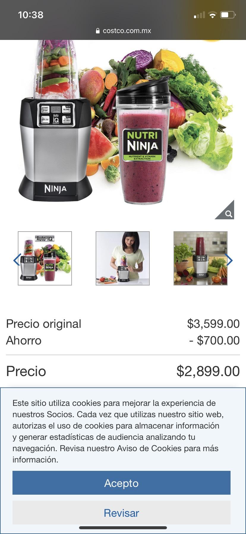 Costco: Nutri Ninja, procesador de alimentos
