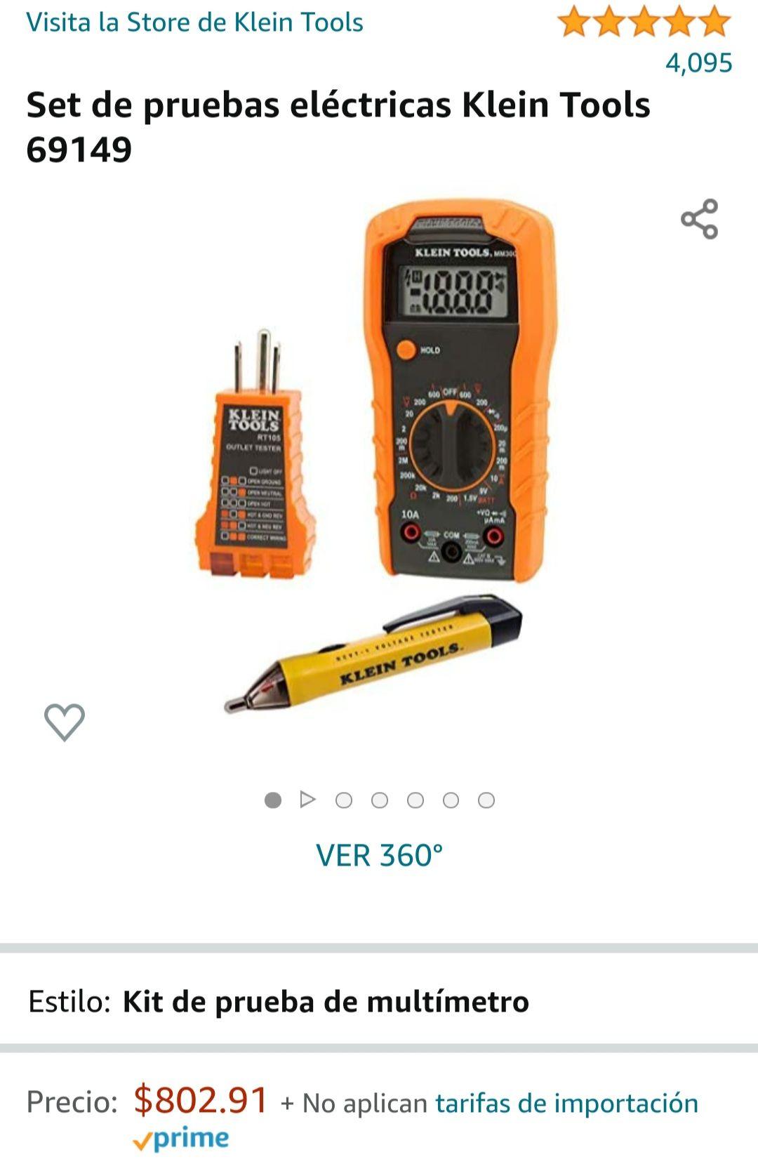 Amazon: Kit Klein Tools, set de pruebas electricas