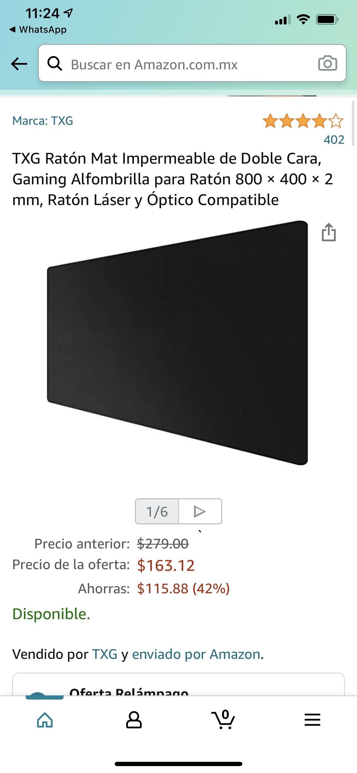 Amazon: Mouse pad 80x40 cm