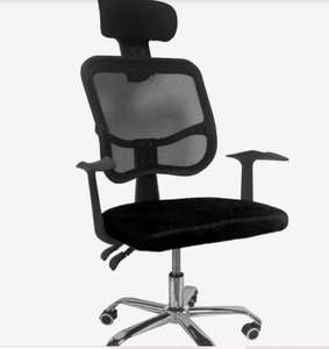 Elektra: Silla Oficina Reclinable Cabecera Ajustable Sillon Ejecutivo Ergonomico Negro