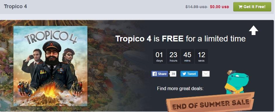 Humble Bundle: Tropico 4 Gratis vía Steam