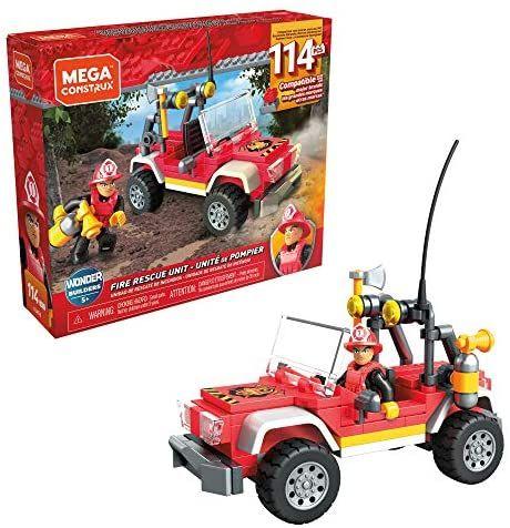 Amazon: Mega Construx™ World Unidad Recate de Incendio 114 Bloques Juguete de Construcción para niños de 5 años en adelante