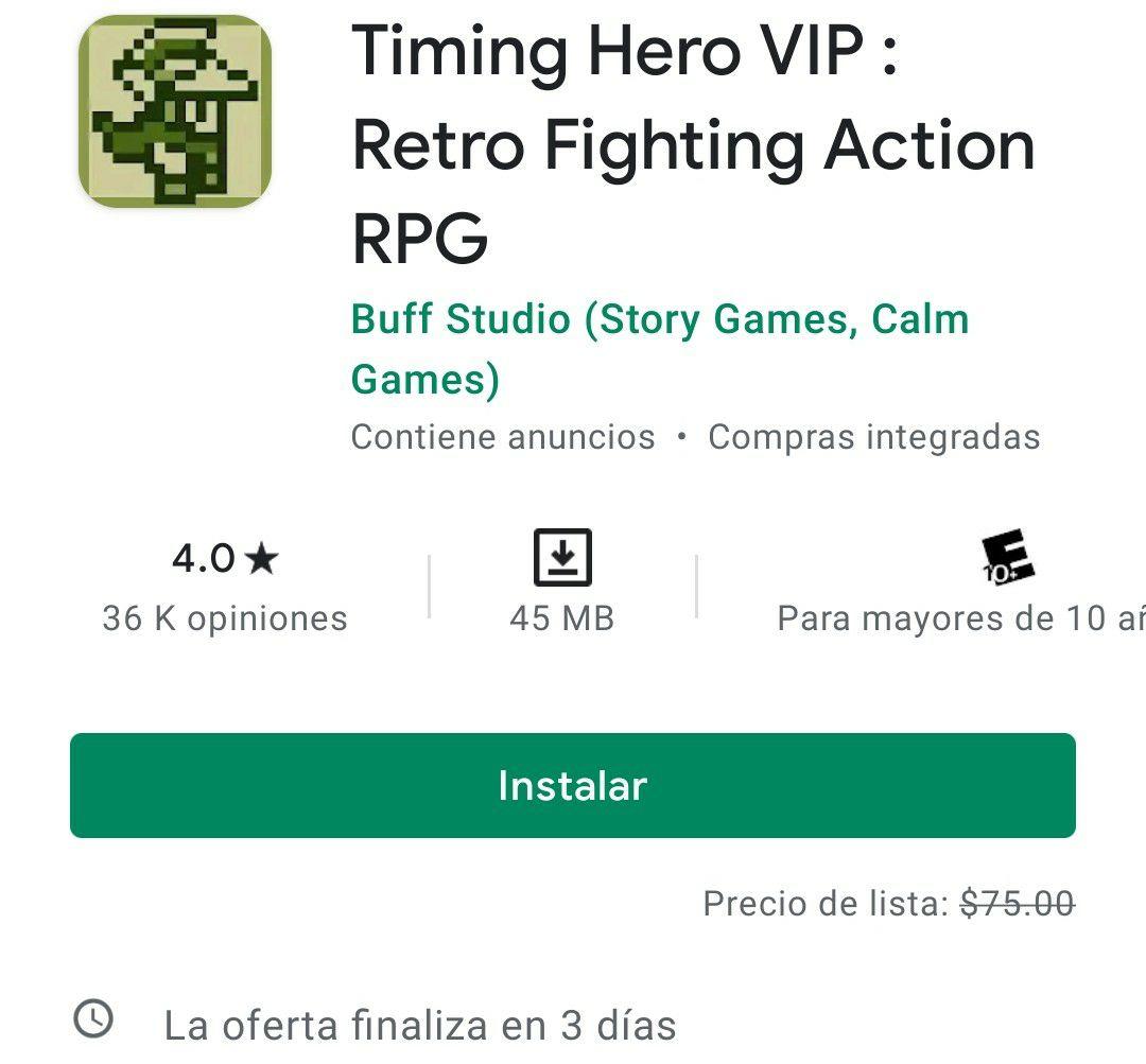 Google Play: Timing Hero VIP: Retro Fighting Action RPG