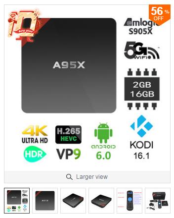 Bang Good: Android TV Box Mini PC nexbox a95x Amlogic S905X 2GB/16GB