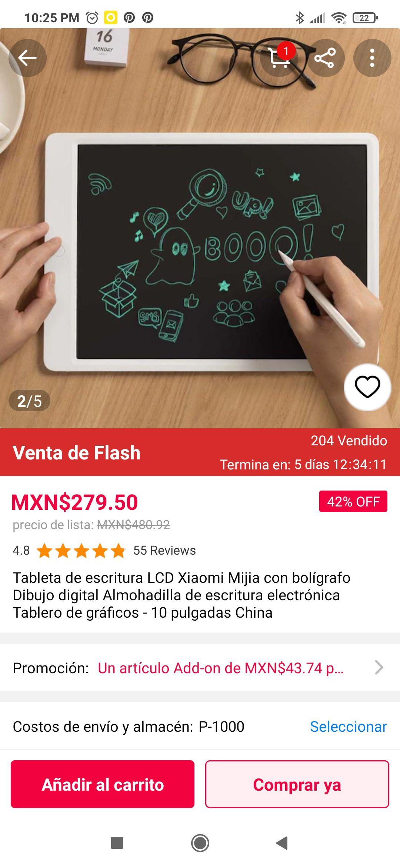 GearBest: Tableta de dibujo lcd