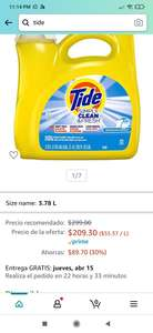 Amazon: Tide Simply Detergente Liquido 3.78 L
