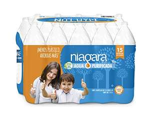 Amazon: Niagara Agua Purificada, Natural, 1.5 litros. Paquete de 15
