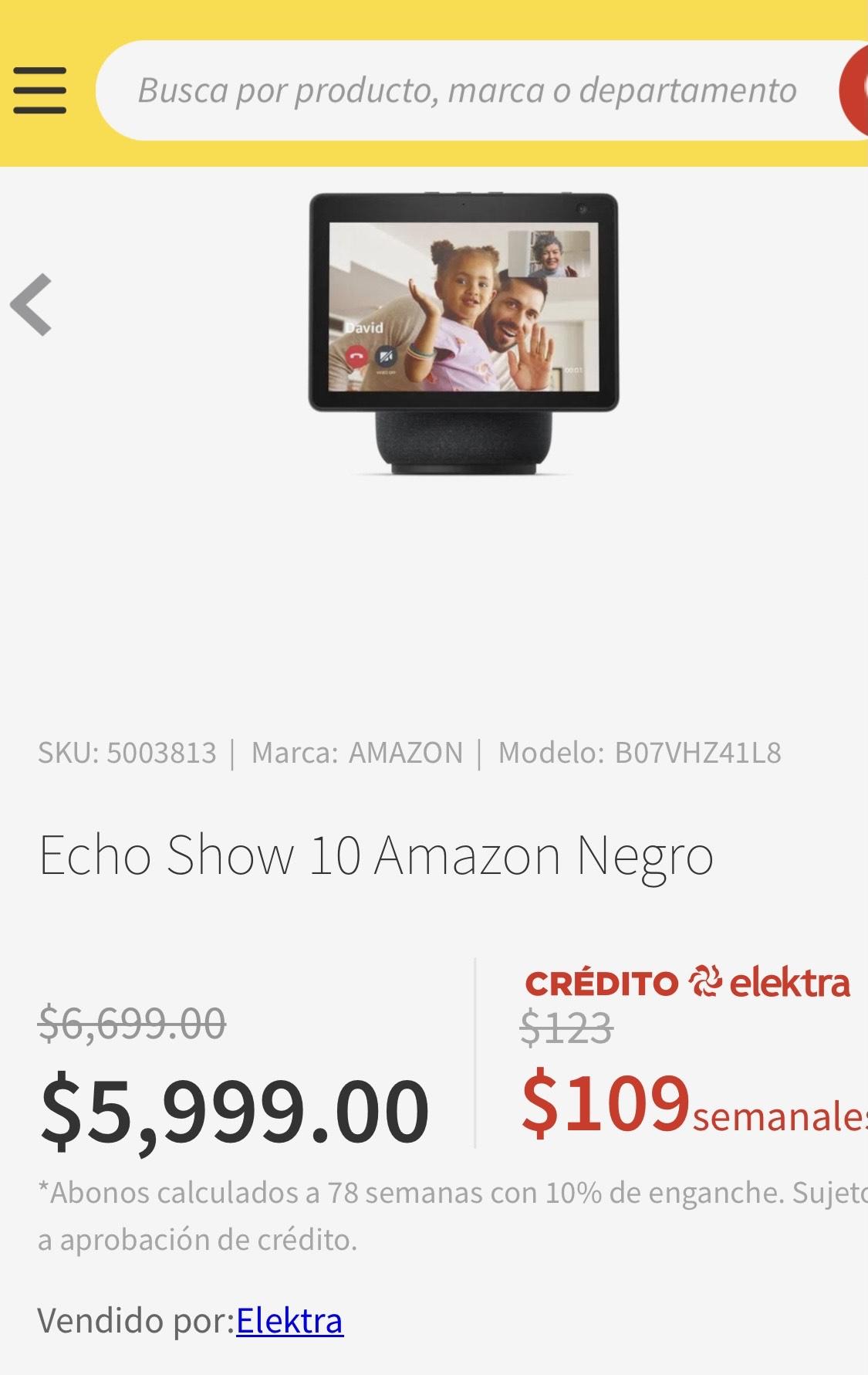 Elektra: Echo show 10 Negro