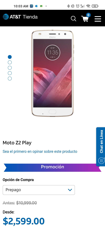 AT&T: Motorola moto z2 play