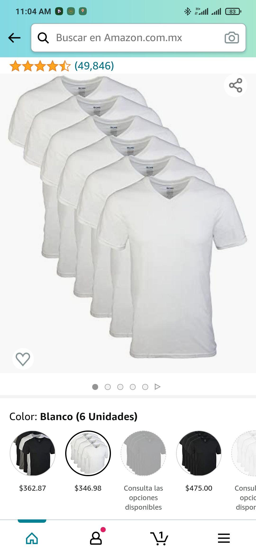 Amazon: Gildan Camiseta interior cuello-V para Hombres