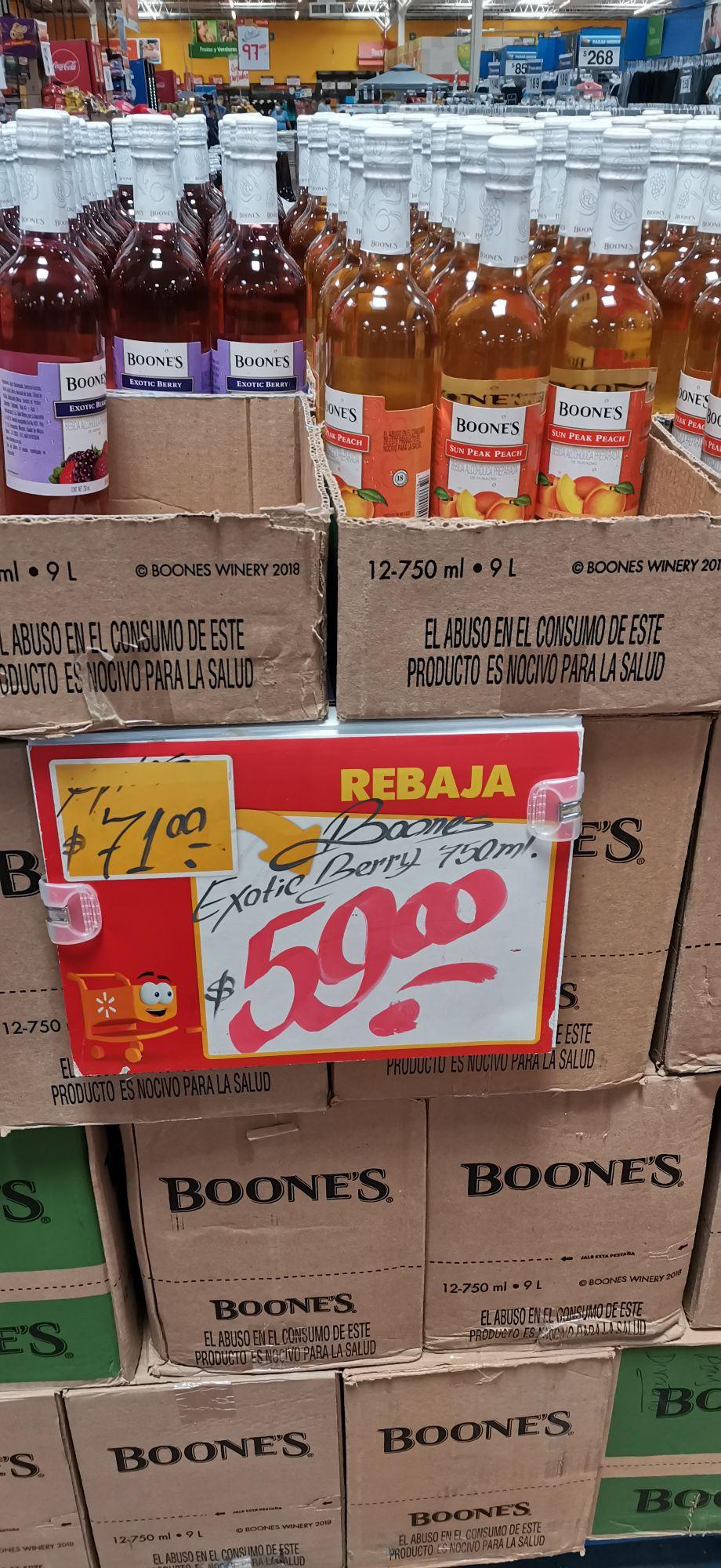 Boones en Walmart a $59.00 pesos