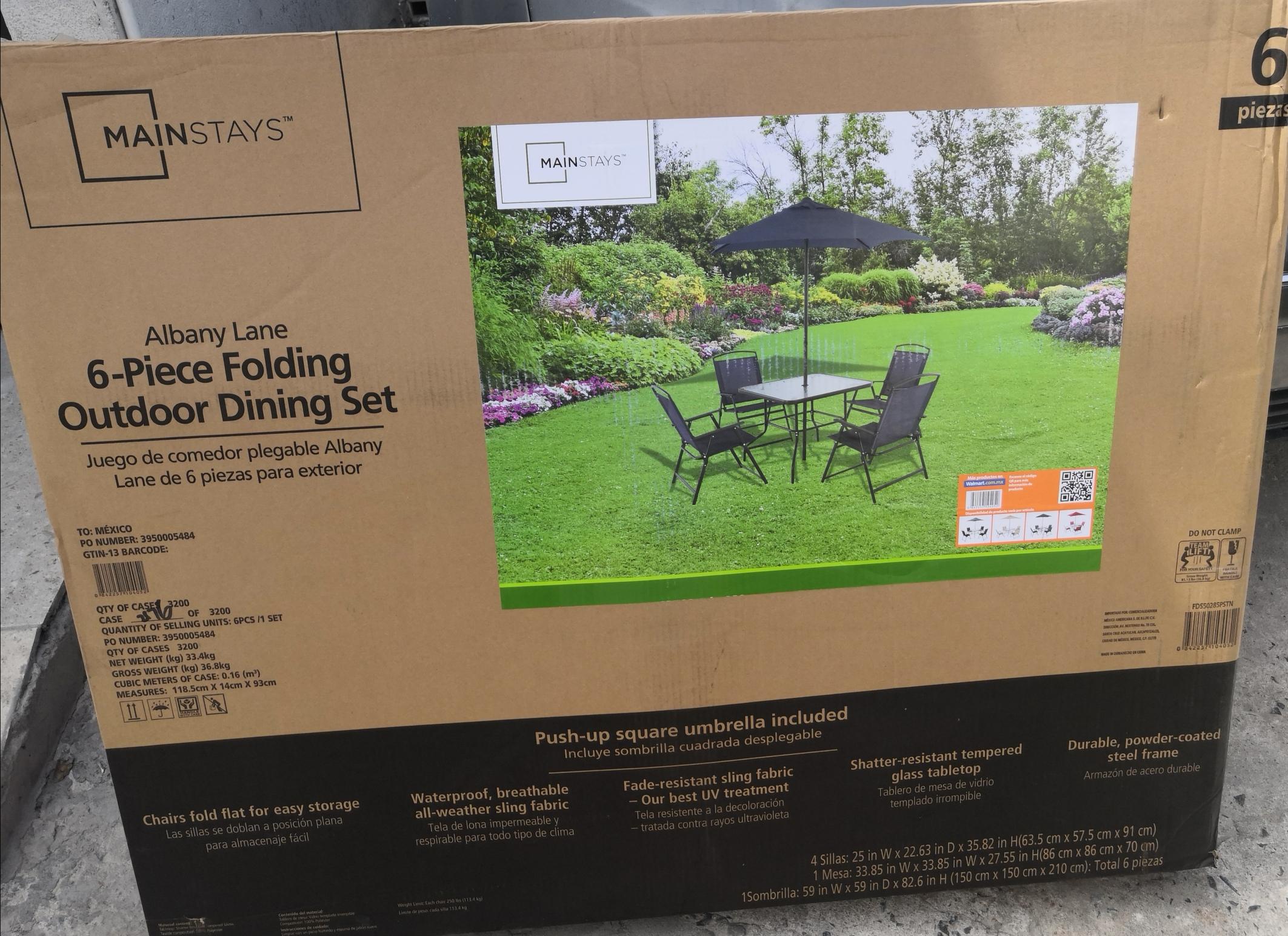 Walmart Comedor de Jardín 6 piezas $986.02
