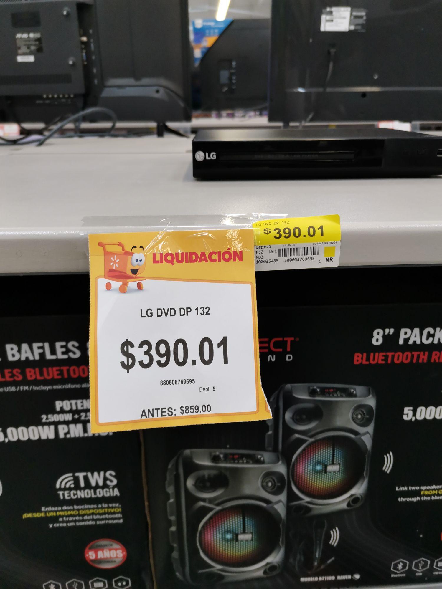 Walmart Miramontes, Reproductor de DVD DP-132 LG en 390.01