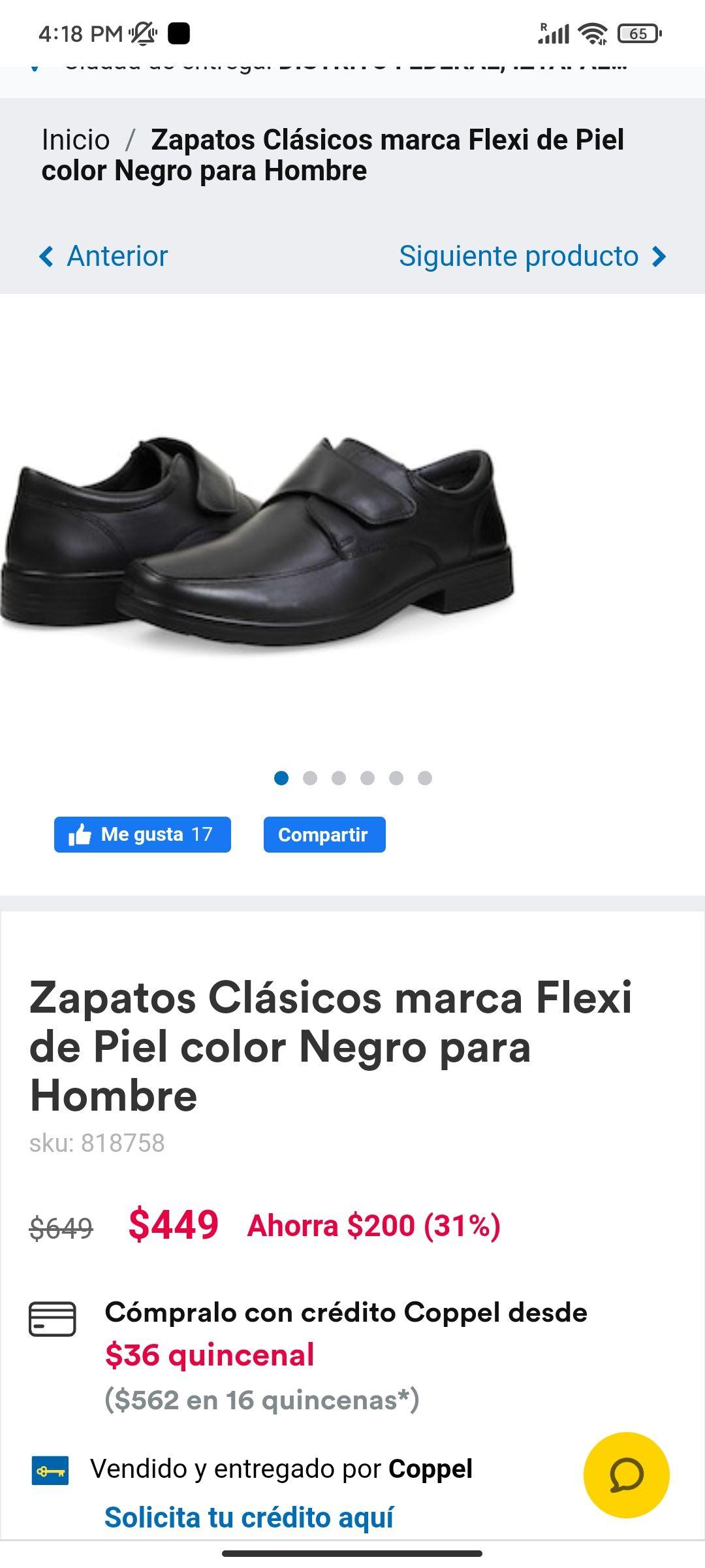 Coppel: Zapatos Flexi Coppel Iguala (y también estan el línea)