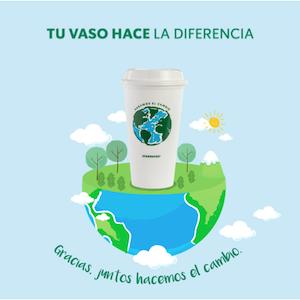 Starbucks: Vaso reusable edición limitada 'Dia de la tierra' GRATIS (22 de abril)