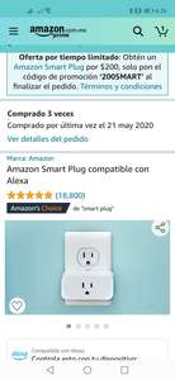 Amazon: Smartplug Alexa $200 (usuarios seleccionados)