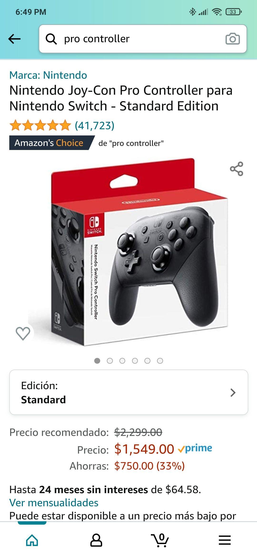 Amazon: Nintendo Switch Pro Controller Standard Edition