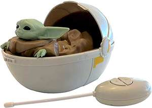 Amazon: Mandalorian Star Wars The Baby Yoda El Niño en Cochecito - Coche de cuna con mando a distancia
