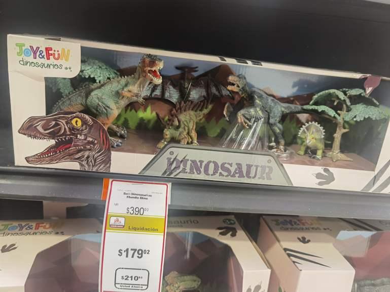 Chedraui Orizaba: set de dinosaurios liquidación 02