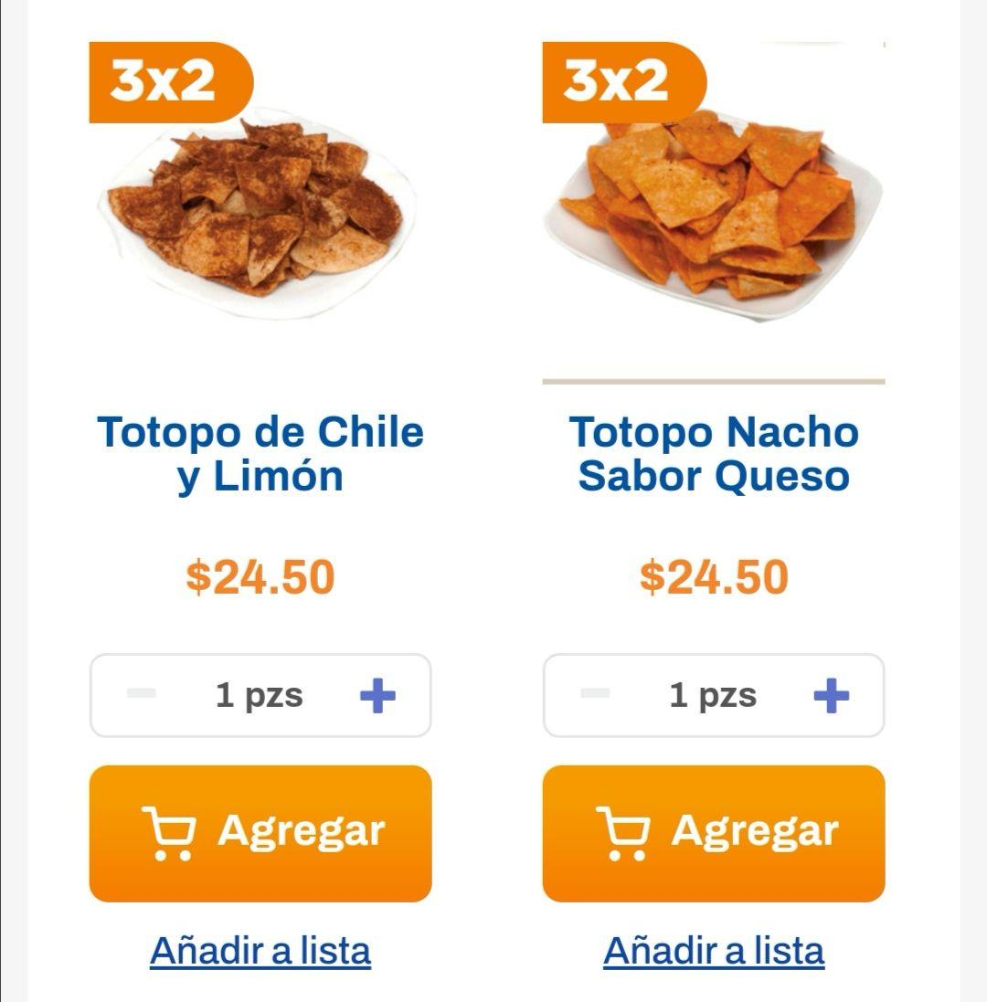 Chedraui: 3 x 2 en totopos del departamento de tortillería