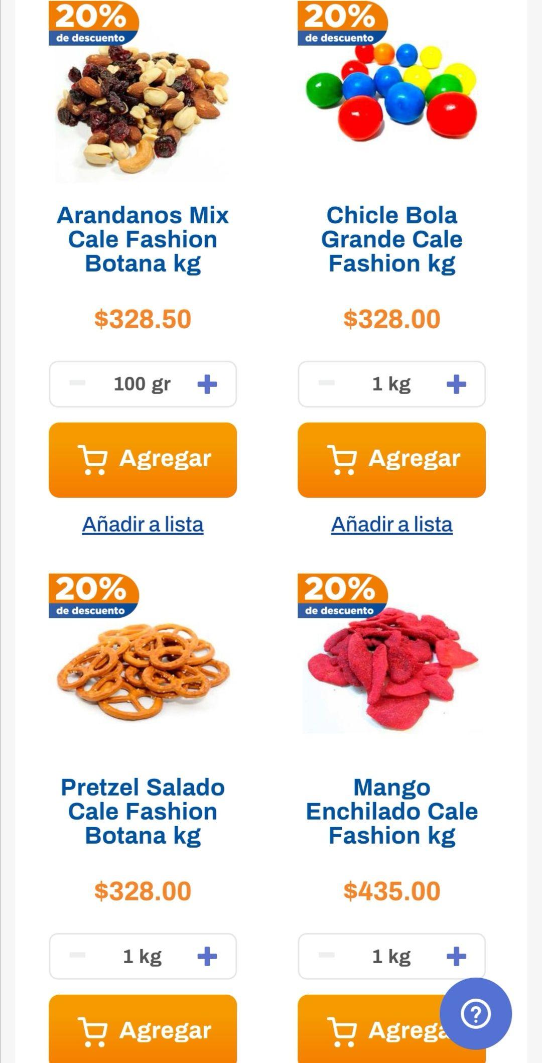 Chedraui: 20% de descuento en dulces a granel seleccionados